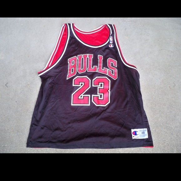 sports shoes a2a16 fa8fc Champion Chicago Bulls Michael Jordan Jersey 48